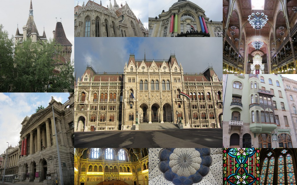various buildings, Budapest