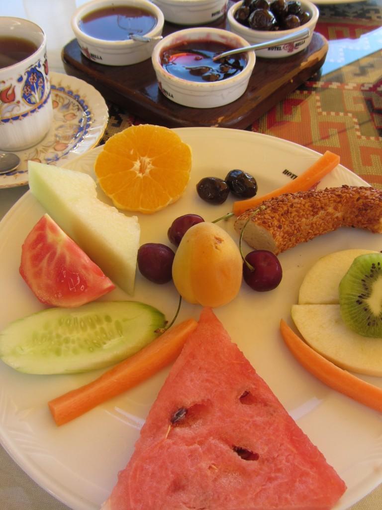 Turkish breakfast (minus the cheese)