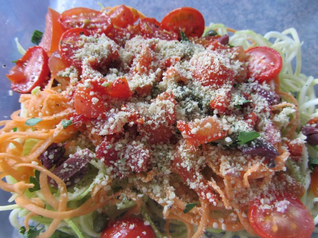 raw vegan pasta puttanesca