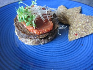 raw vegan burger