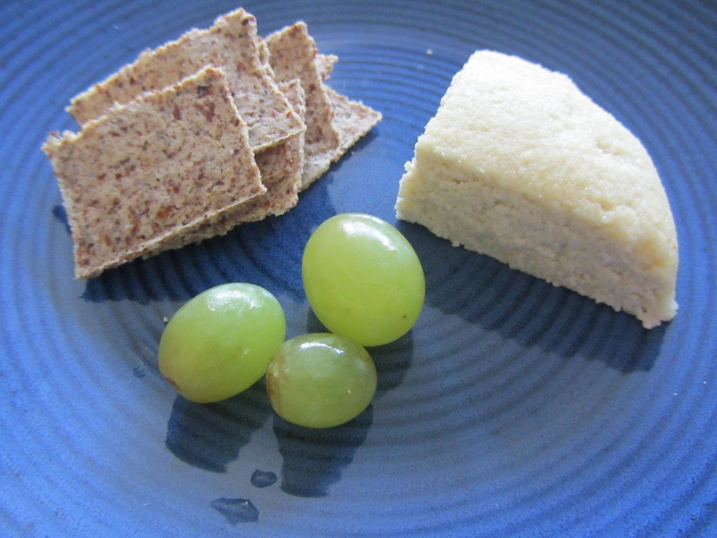 raw vegan feta cheese & crackers