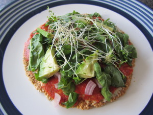 raw veggie pizza
