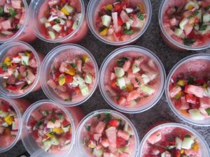 raw watermelon gazpacho