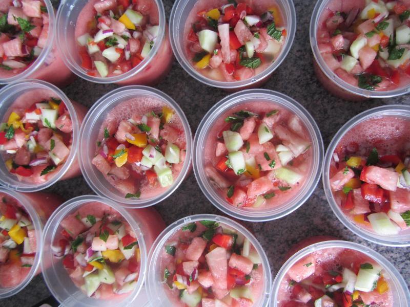 raw watermelon gazpacho